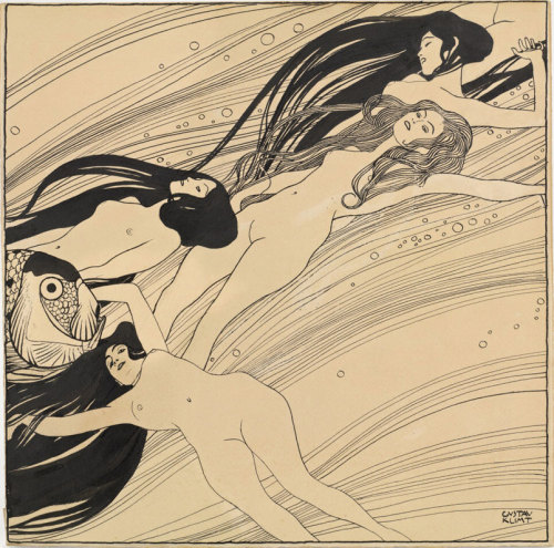 Gustav Klimt, Fishblood, 1898