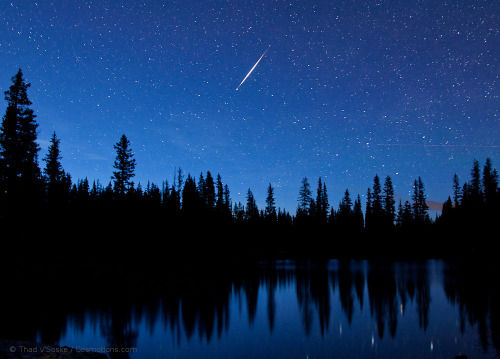 ikenbot:  Meteor Above Grand Mesa  An evening of photography began with this flash of meteoric brilliance in the twilight sky above Grand Mesa, Colorado, USA.