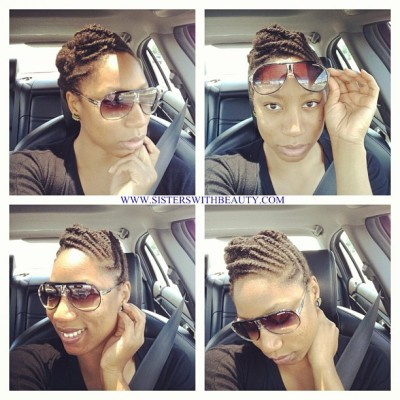 "It's a sunny day and in all about that.. Letting my hair enjoy a little sun""#naturalhair #sisterswithbeauty #thankful  (Taken with Instagram)"