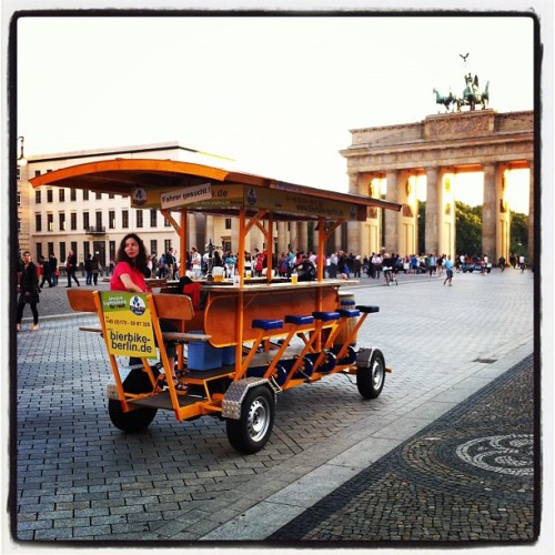Germany's beer-bike technology far outpaces the allies. #beergap (Taken with Instagram at Brandenburger Tor)