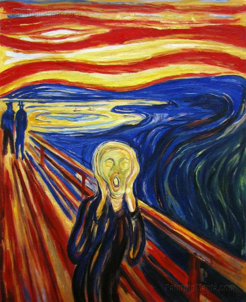 "Never thought of Munch's screamer in terms of a cartoon face. In his book on Superman, Larry Tye captures the pricey (recently sold for $119 million) legend's face as one of a ""cartoon of gibbering existential terror."" So was, says Tye, the face of Superman on the cover of the first Action Comic edition released to the newsstands in June 1938."