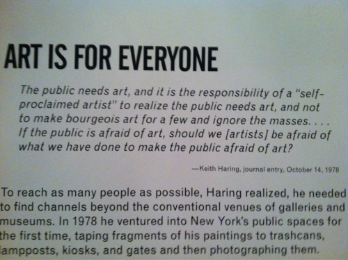 nyc-arts:  ART IS FOR EVERYONE. Keith Haring exhibition at Brooklyn Museum