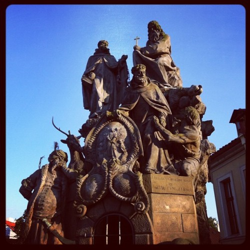 Charles Bridge at the magic hour (Taken with Instagram)