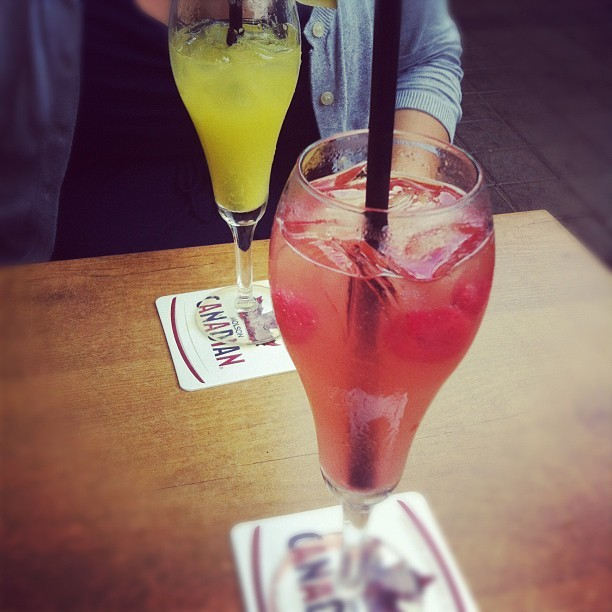 Brunch/mimosa date with @Sarahpyo!  (Taken with Instagram at Milestones Grill + Bar)