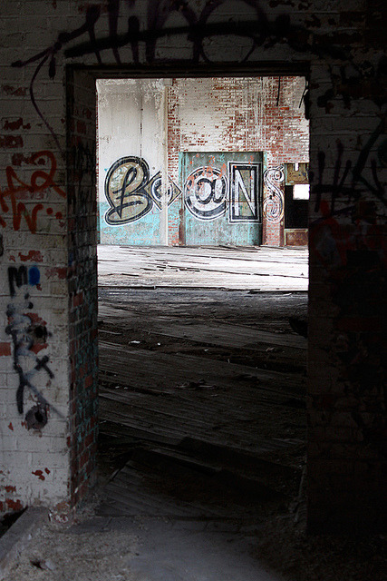 Boans Graffiti on Flickr.Via Flickr: Looking through a door at a graffiti piece in abandoned building in Cleveland, Ohio. Snake Oil | Twitter