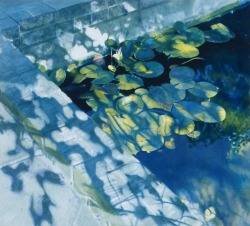 blastedheath:  furtho Norman Rowe (British, b. 1929), Water Lilies, 1979-80. Oil on canvas. Government Art Collection, UK.