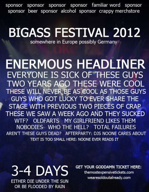 BIGASS FESTIVAL 2012 (what, no Silbermond??)