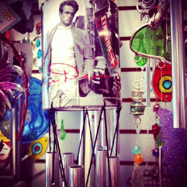 In oceanside came across this James Dean wind chime #love #jamesdean #oceanside #windowshopping (Taken with Instagram)