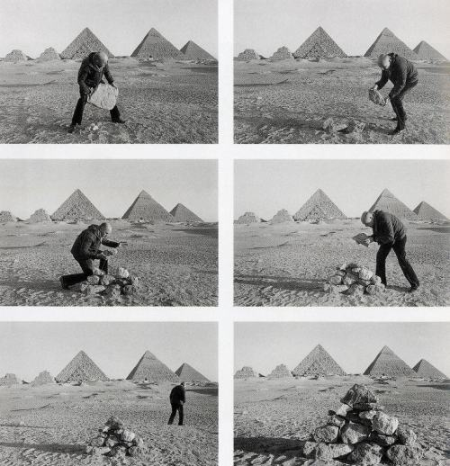 icancauseaconstellation:  Duane Michals, I Build a Pyramid, 1978