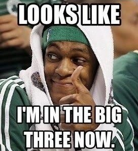Rajon Rondo's comments after finding out that Ray Allen signed with the Miami Heat..