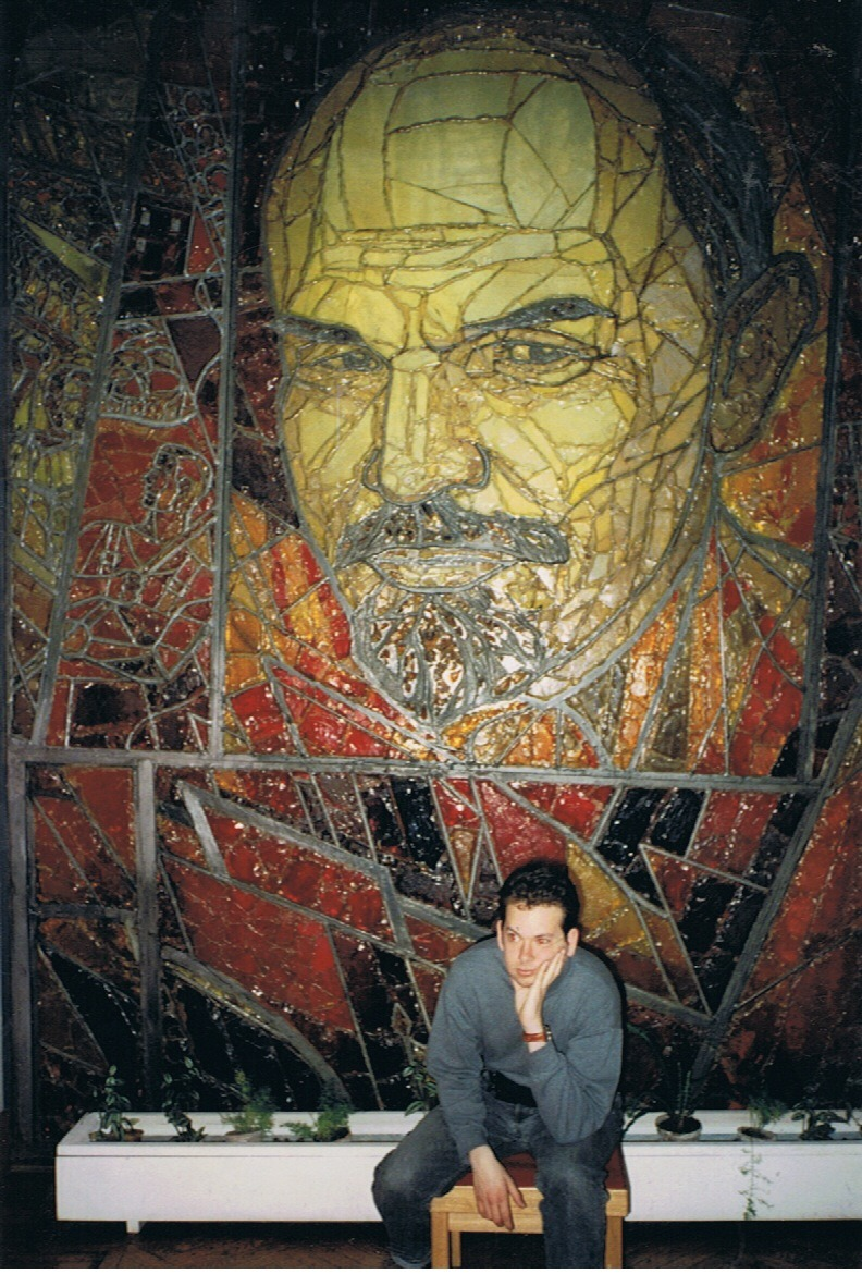 Here I am in March 1993, at the now closed Lenin Museum, under Vladimir Ilich's strong gaze. The Lenin Museum closed after the attempted October 1993 Coup.  I still have the shirt too.