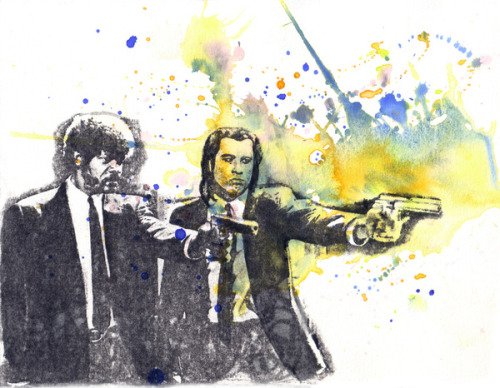"fuckyeahpsychedelics:  ""Pulp Fiction"" by Idillard"