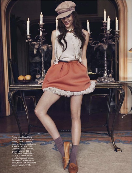 Astrid Berges-Frisbey by Jonas Bresnan for Glamour France (July 2012).