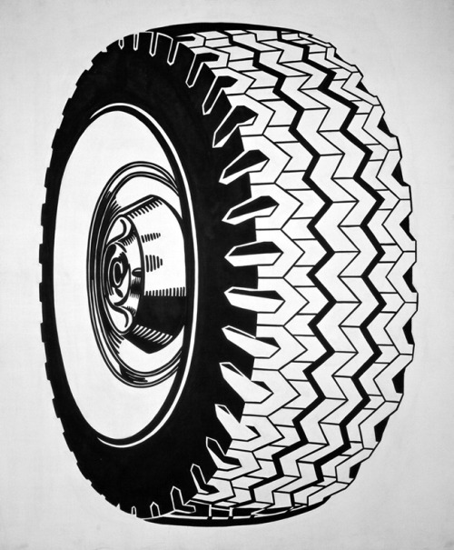 """Tire"", 1962  By: ROY LICHTENSTEIN…."