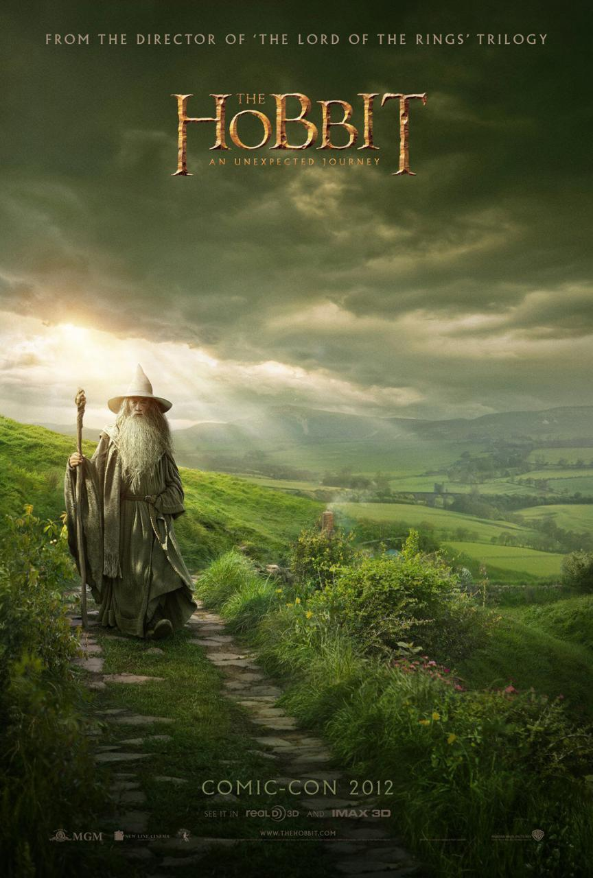 glorfinn:  New poster of The Hobbit at Comic Con 2012 …