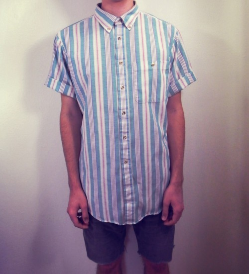 ocean surf striped vintage shirt; $16
