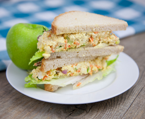 VEGAN DAILY RECIPE:  Tofu Eggless Salad Sandwich