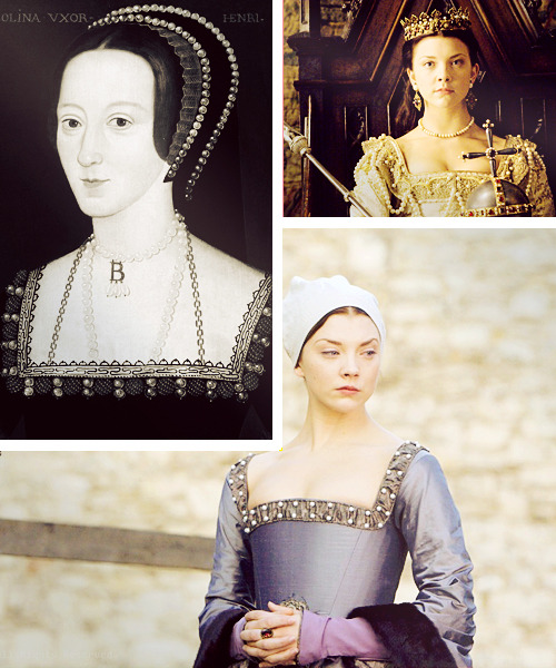 "Awesome women, fictional or otherwise: Anne Boleyn [x]Anne Boleyn was the second wife of Henry VIII of England. She was a Protestant and a played a significant role in Henry's decision to break with the Catholic church. As a biographer commented: ""To us she appears inconsistent—religious yet aggressive, calculating yet emotional, with the light touch of the courtier yet the strong grip of the politician—but is this what she was, or merely what we strain to see through the opacity of the evidence? As for her inner life, short of a miraculous cache of new material, we shall never really know. Yet what does come to us across the centuries is the impression of a person who is strangely appealing to the early twenty-first century: A woman in her own right—taken on her own terms in a man's world; a woman who mobilised her education, her style and her presence to outweigh the disadvantages of her sex; of only moderate good looks, but taking a court and a king by storm. Perhaps, in the end, it is Thomas Cromwell's assessment that comes nearest: intelligence, spirit and courage""Why she is on this list: Anne had such a profound influence on history and has been such a polarising figure, and consequently very mistreated by historians. It wasn't just that she was the second - most famous - wife of the most famous English monarch and birthed the one of the greatest monarchs in English history. She influenced society in her own right as well. She was incredibly clever and for me personally, she's probably my favourite historic figure of all time. Not to mention that she got a noble title in her own right was pretty bad ass. Paving the way for women since 1501 etc."