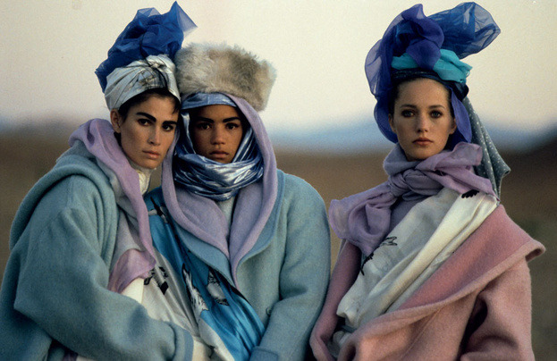 80s-90s-supermodels:  Kenzo F/W 1985/'86Photographer : Hans FeurerModels : Kim Williams, Veronica Webb & Cecilia Chancellor   (via imgTumble)