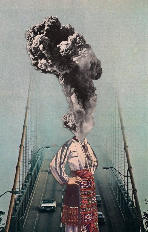 "thecollectivecollage:  ""Eruption"" by bankingonamyth"