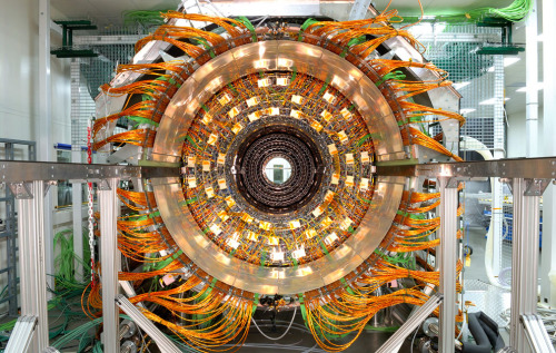 lmpressions:  The Compact Muon Solenoid One of the detectors which discovered traces of the Higgs Boson