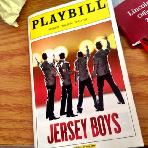 John Lloyd Young! Even better in person. Great show! #JerseyBoys (Taken with Instagram at August Wilson Theatre)