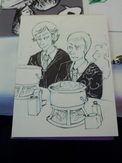msaether:  Some con sketch Potterlock?