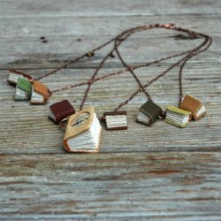 inspiretodress:  Spring Library Book Necklace