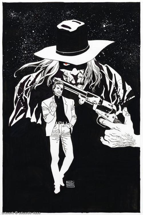 xombiedirge:  Jesse Custer & The Saint of Killers by Eduardo Risso