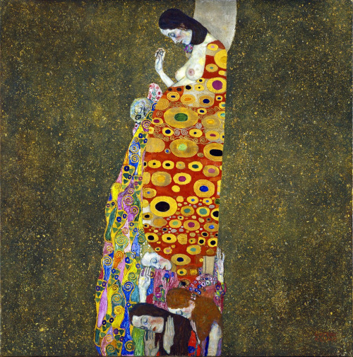 paperimages:  Gustav Klimt, Hope, 1907-08.