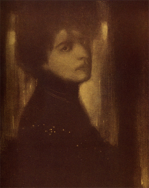 Edward Steichen, Portrait, published in Camera Work 1903,half-tone reproduction, approximately  6 2/3 x 5 1/5″   (Source: venetianred.com)