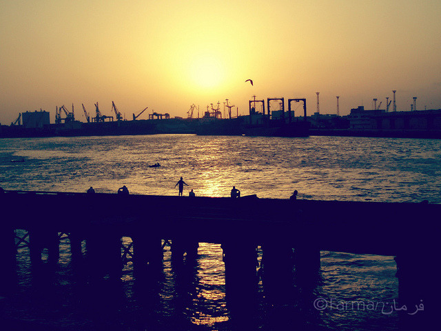 A beautiful sunset at Port Grand, Karachi on Flickr.