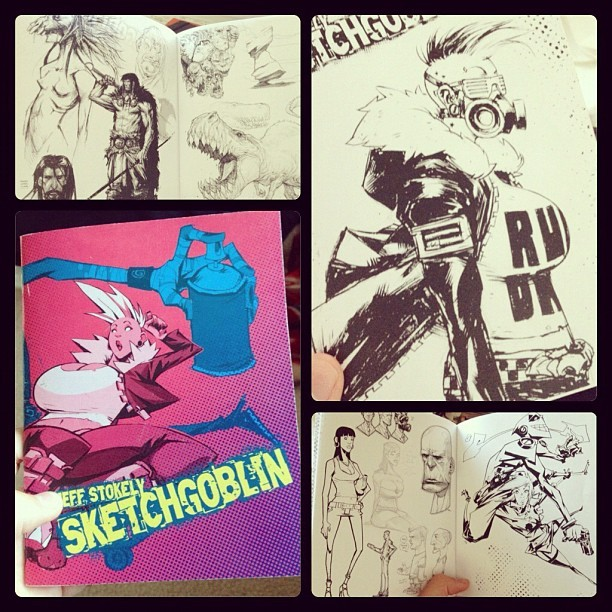 jeffstokely:  Some preview pics of my sketchbook SKETCHGOBLIN available next week at SDCC. (Taken with Instagram)