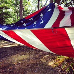 Flag fort! (Taken with Instagram at camp wandawega)