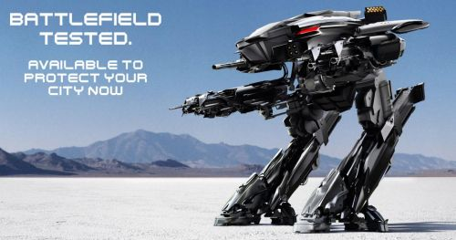 Robocop teaser image of the new ED-209.