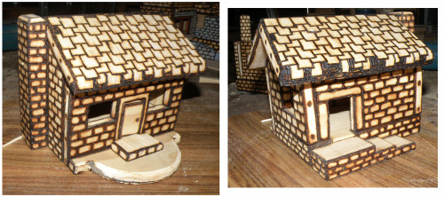 Woodburnt Cabin Box
