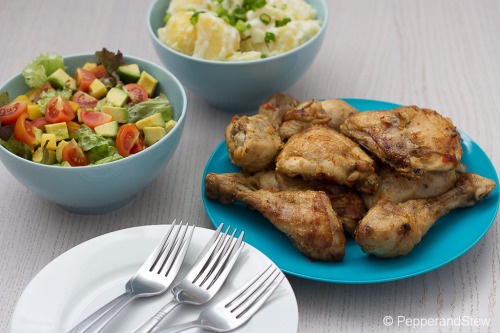 homeofafricanfood:   Coconut Piri Piri Chicken and Avocado Salad