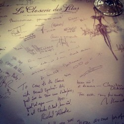 Lunch at Closerie des Lilas - #hemingway's famous watering hole (Taken with Instagram)