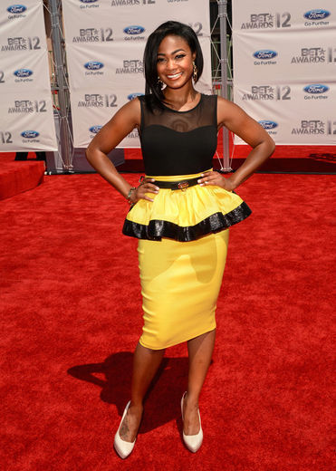 Tatayana Ali is gorgeous in this bumble bee look on the red carpet… Sizzling Hot! www.sheenmagazine.com