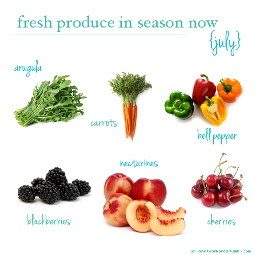 Eat the seasons - July.