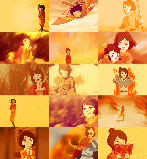 """I will make no such promises"" color meme: Jinora in orange"