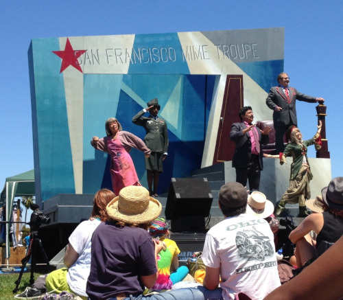 Things happening in Dolores Park right now: @SFTroupers are wrapping up from their 2pm performance. It was great!