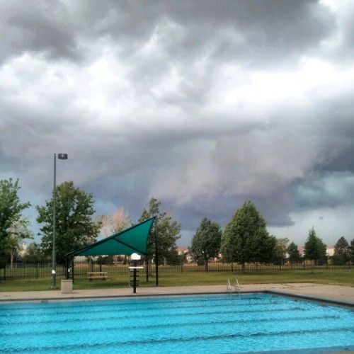 Storm is a brewin #storm #life #death #happy #pool #work  (Taken with Instagram)