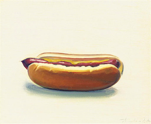 """Hot Dog With Mustard"", 1964  By: WAYNE THIEBAUD…."