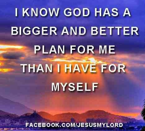 What we want for ourselves can never be as beneficial as what God has in store for us. For we don't always want/plan for things that would actually be good for us.