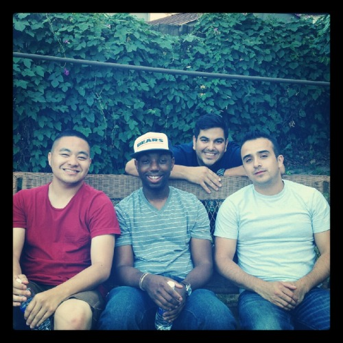 bryangotjokes:  Comics. Fourth of July. Me, Chazz, Nick, Josh in back.