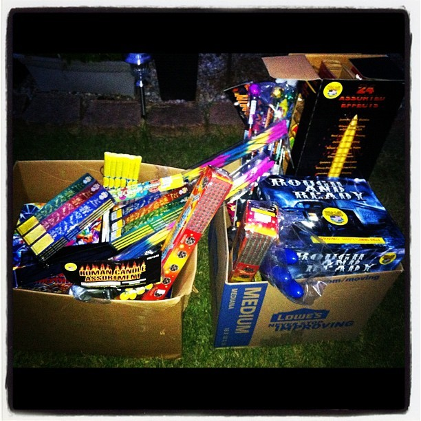 Shits about to get cray! #fireworks #boom #happy4th (Taken with Instagram)