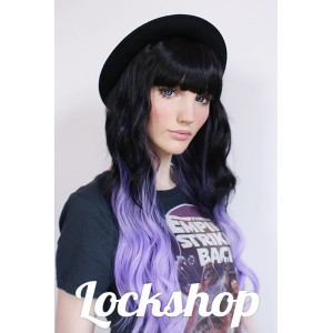 Mermaid dip dye lilac wig