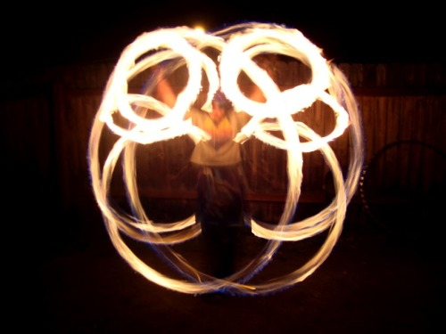 gendurr:  Krystal Snow getting down with some poi. Watching her with a staff is even more incredible. This girl has some grace when it comes to fire bending.