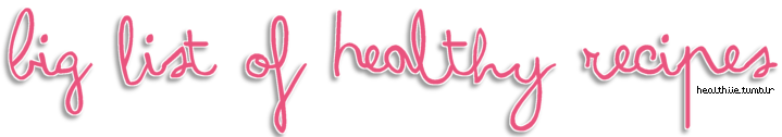 "healthiie:  Allrecipes.com is easily one of the best recipe sites online.. but sifting through a million recipes to find yummy & healthy recipes can be hard. The healthy section has a lot of lol-worthy ""healthy"" options (cinnamon sugar pork rinds? are you serious? in the healthy section? ok.) & There's a ton of great healthy recipes buried in other sections around the site. Here's a list of some worth looking at! PS - when you change the number of servings, it automatically scales the ingredients down for you! Enjoy. xo Mia  Vegan Crepes Whole Wheat Pancakes  Autumn Apple Salad Double Whole Grain Pancakes Egg White Crepes Fluffy Canadian Pancakes Dairy & Gluten Free Pancakes Eggy Veggie Bake Poached Egg Caprese Gluten Free Hot Breakfast Cereal Quinoa Pudding Omelet in a Mug Tofu Quiche with Broccoli Suppertime Egg Burritos Black Bean Breakfast Bowl Zucchini and Eggs  Vegetarian Sloppy Joes Avocado and Tomato Salad Black Bean Burger Bermuda Spinach Salad Avocado Egg Salad Vegetarian Chickpea Sandwich Filling Cranberry and Cilantro Quinoa Salad Orzo and Shrimp Salad with Asparagus Vegan Falafel   Coconut Curry Tofu Vegetarian ""Meatloaf"" Lentils and Spinach Vegan Taco Filling Vegan Lasagna Whole Wheat & Honey Pizza Crust Taco Salad Tofu and Veggies in Peanut Sauce Stuffed Peppers Crispy Eggplant with Spicy Tomato Sauce Spaghetti Squash  Peppermint Meringues Grilled Peaches with Gingersnaps Pumpkin Pie for Dieters Pumpkin Rice Pudding Spiced Baked Apples Gluten Free Garbanzo Bean Chocolate Cake Honeysuckle Pineapple No Bake Peanut Butter Nuggets Chocolate Banana Tofu Pudding Poppy Seed Fruit Salad Low Sugar Strawberry Rhubarb Pie Orange Sponge Cake Roll Fresh Fruit Minty Dip Dark Chocolate Bark Banana Cookies ""Ice Cream"" Sandwiches  Baked Stuffed Pears Crunchy Macaroons  Fruit Salsa & Cinnamon Chips Fruity Fun Skewers Baked Kale Chips Hard Boiled Egg Pita Chips Eggplant Chips Hummus Cajun Popcorn  Easy Pizza Sauce Buschetta Guacamole Spinach Basil Pesto Pico De Gallo Fresh Salsa Marinara Sauce Vegan Pesto Green Tomato Relish"